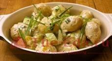 Салат картофельный с брюквой
